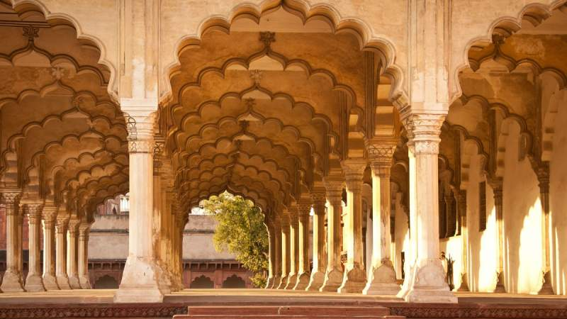 Agra Fort Diwan I Am, Red Fort, Agra, Rajasthan, India.