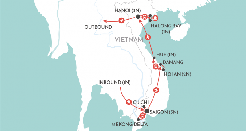 vietnam-at-a-glance itinerary